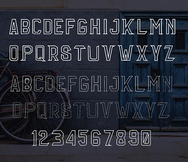 Mirnah Outline Font Letters
