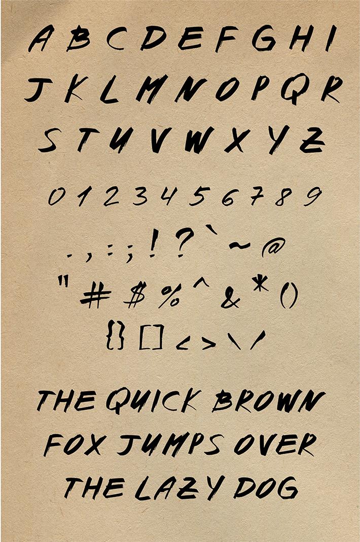 Nikora Brush Font