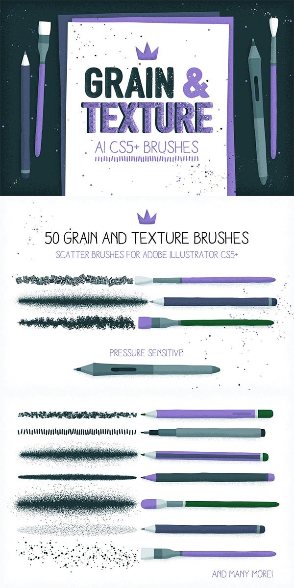 AI Grain & Texture Brushes