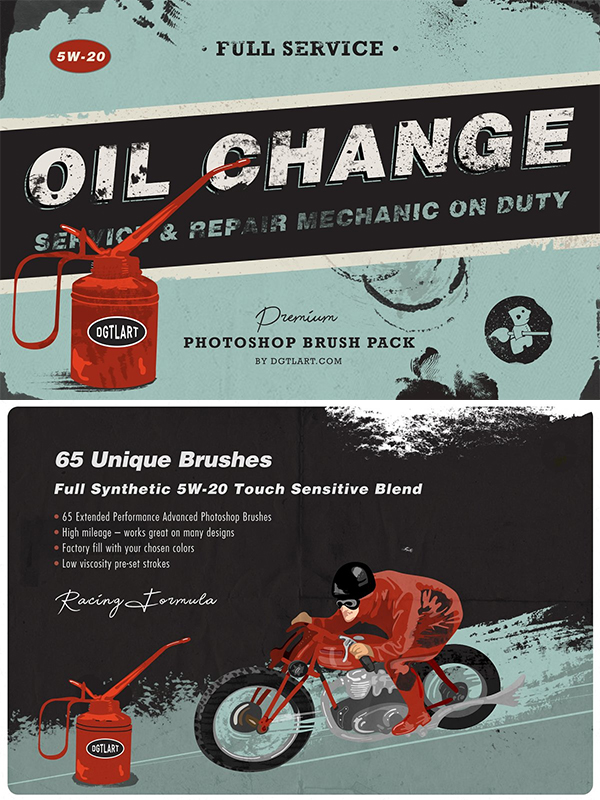 Oil Change   Photoshop Brushes