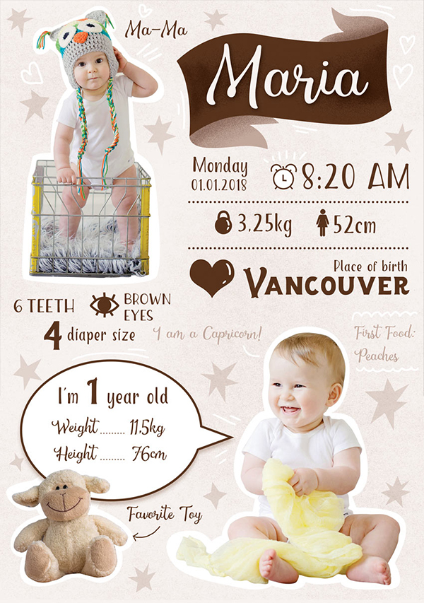 How to Create a Baby's First Year Infographic in Photoshop