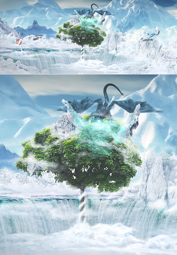 Learn How to Create Paradise Landscape in Photoshop Tutorial