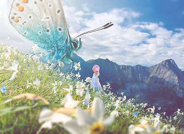 How to Create a Spring Fairytale Composition in Photoshop Tutorial