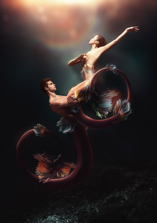 How to Create a Dramatic Mermaid Photo Manipulation in Photoshop