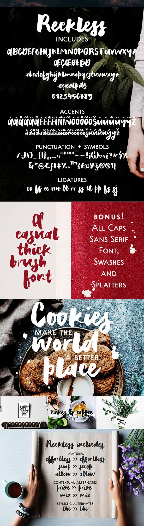 Reckless Brush Font Font Letters