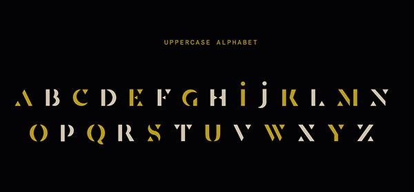 Senda Custom Stencil Font Letters