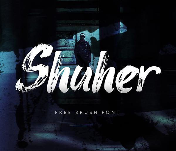 Shuher Brush Free Font - 50 Best Free Brush Fonts