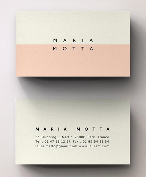 Pink Modern Minimal Business Card Template