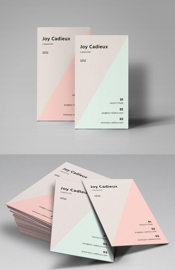 Triangle Minimal Business Card