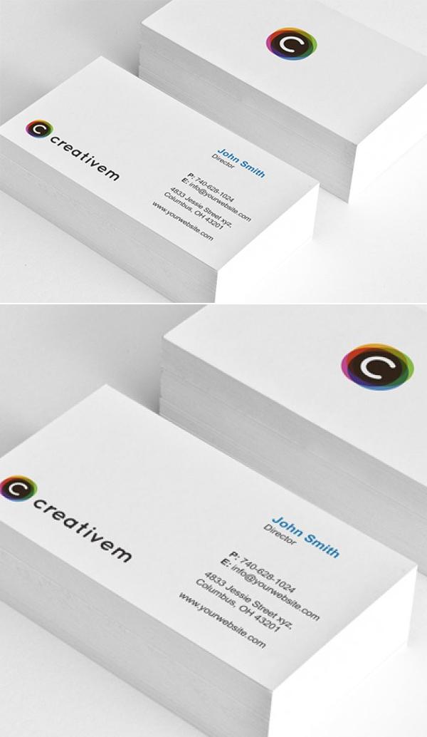 Simple Minimal Business Card Template