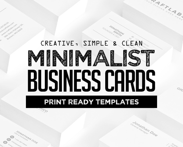 26 Minimal Clean Business Cards (PSD) Templates