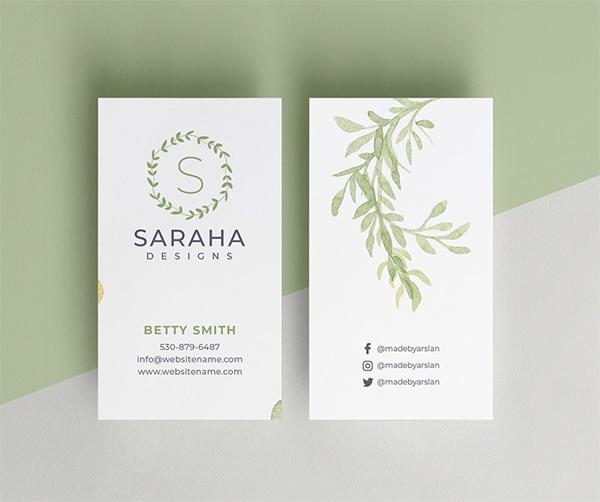 Saraha - Minimal Business Card