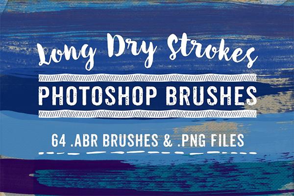 Long Dry Watercolor Brushes Bundle