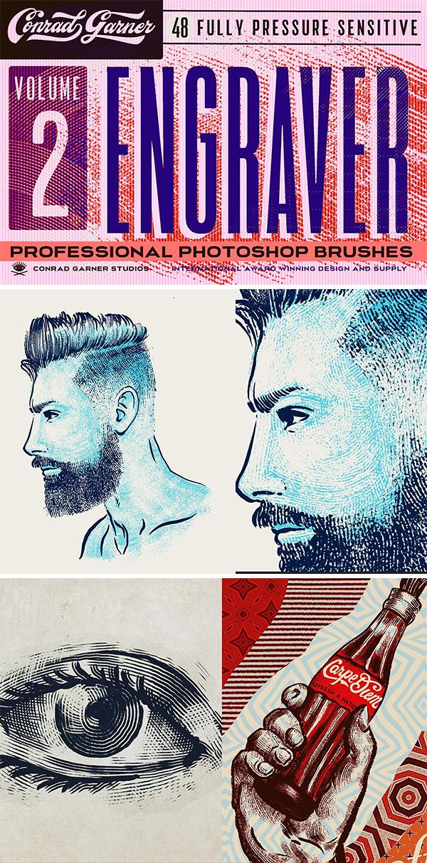 Engraver Brushes - Photoshop