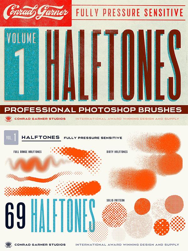 Halftone Brushes - Photoshop