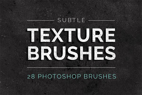 Subtle Texture Photoshop Brushes