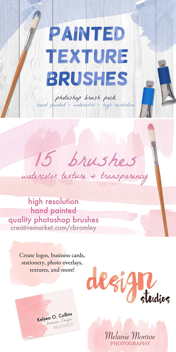 Painted Texture Brushes
