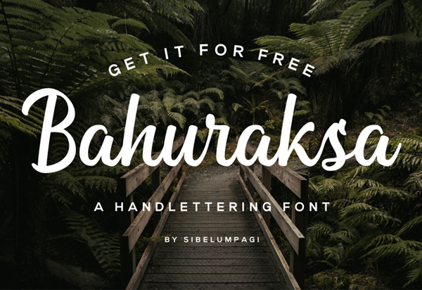 Bahuraksa Script Free Font Design