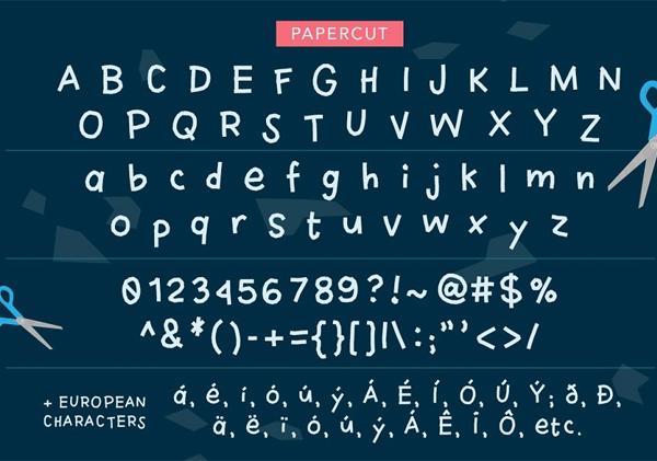 Papercut Free Font Letters