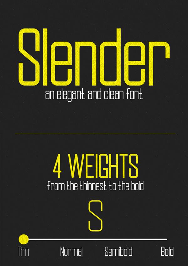 Slender Free Font