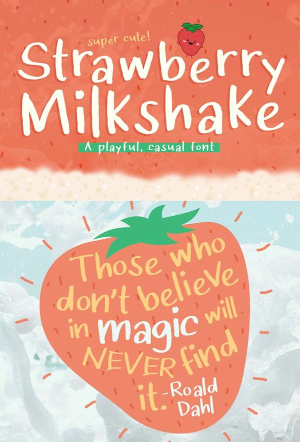 Strawberry Milkshake Free Font