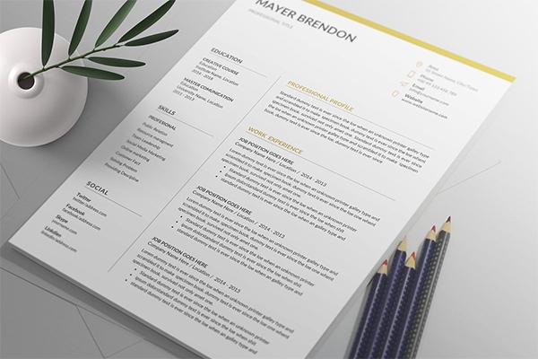 Creative Fresh Resume / CV