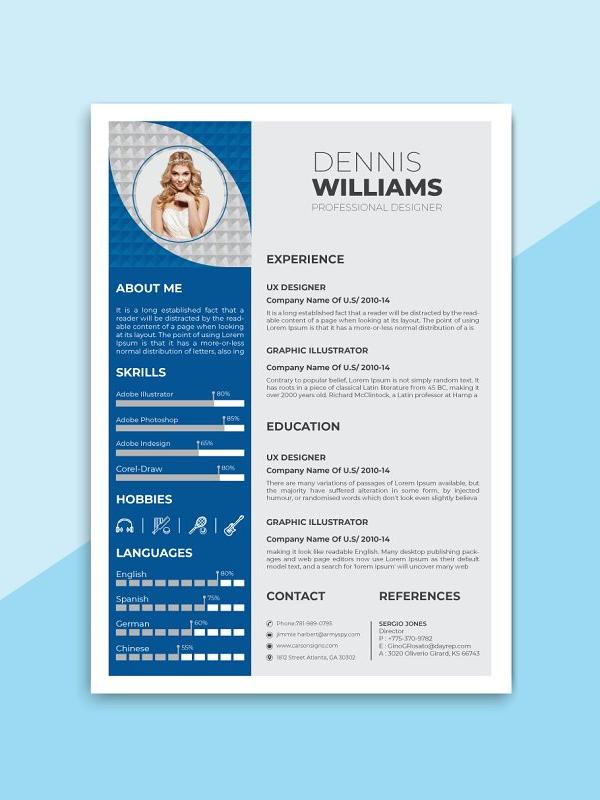 Modern Resume Template / CV