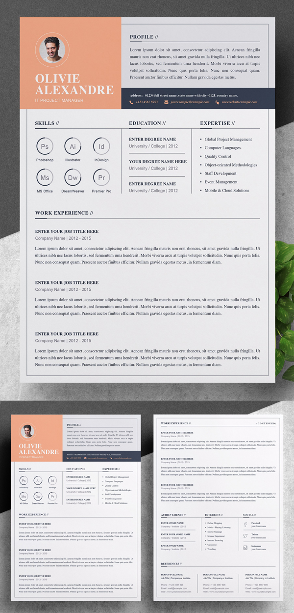 Elegant Professional Resume / CV Template