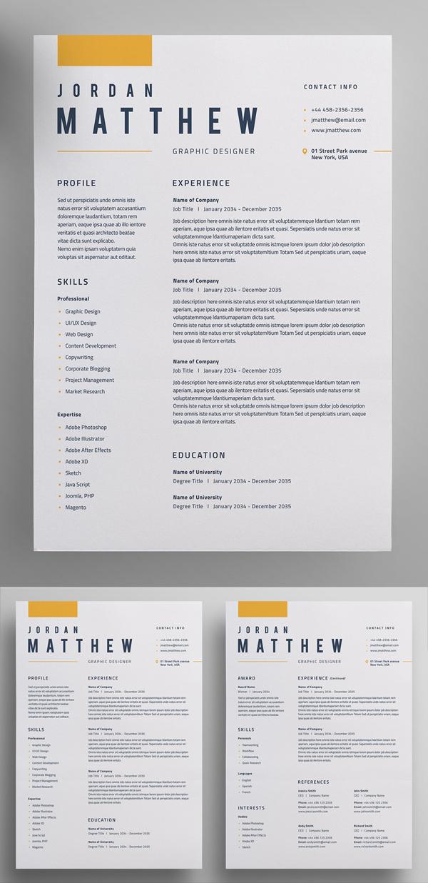 Perfect Resume / CV Template