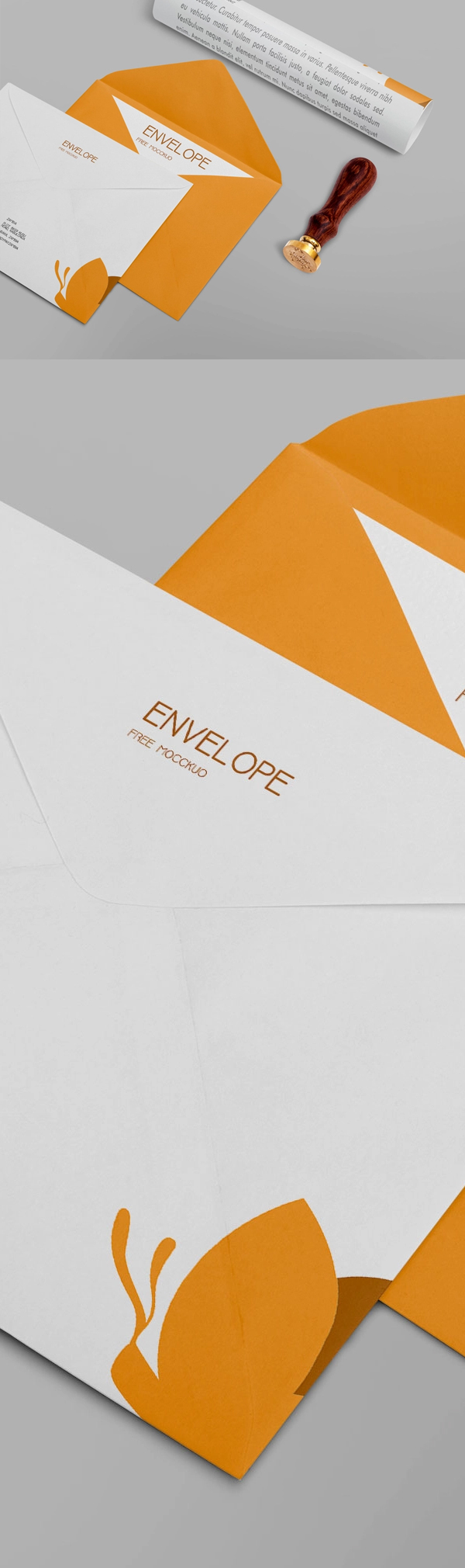 Free Company Envelope Design Mockup