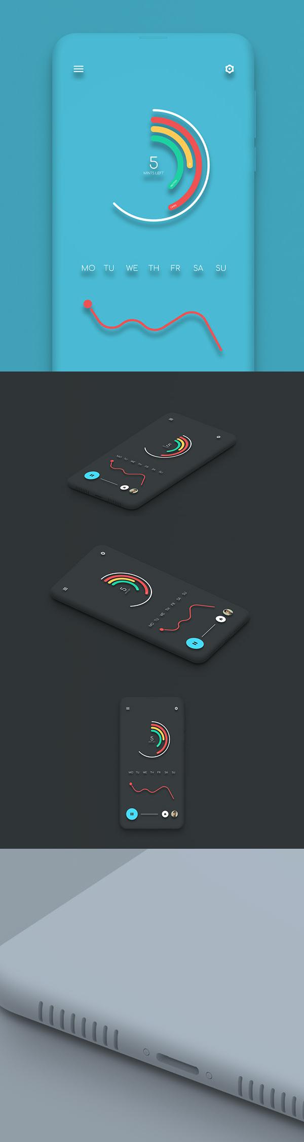 Free Minimalist Smartphone Mockup