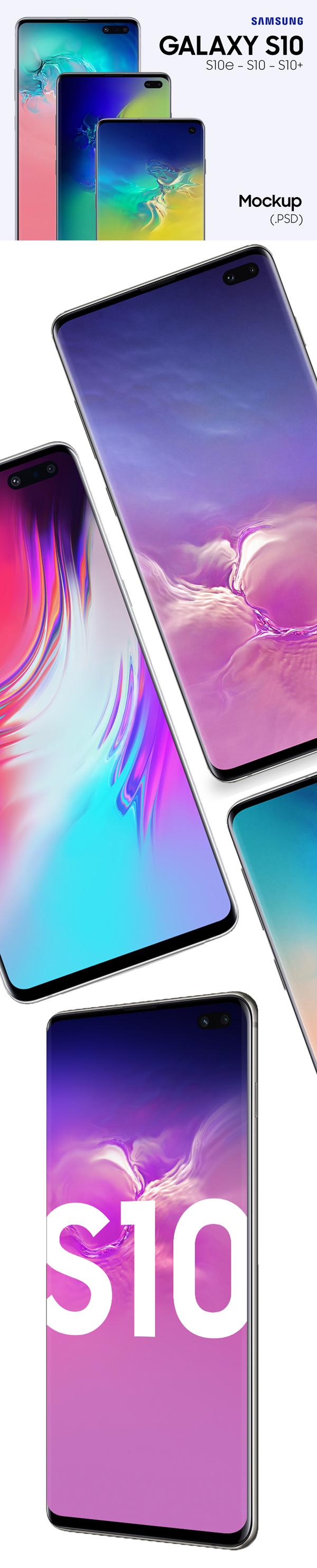 Free Samsung Galaxy S10e S10 S10 Mockups