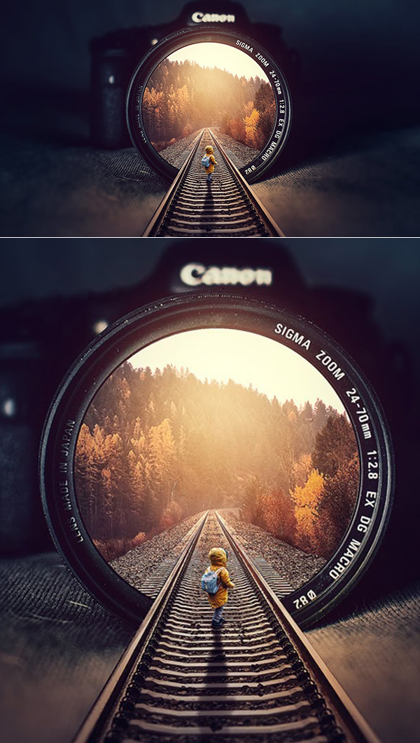 How to Create Rails Inside Illution Photo Manipulation Photoshop Tutorial