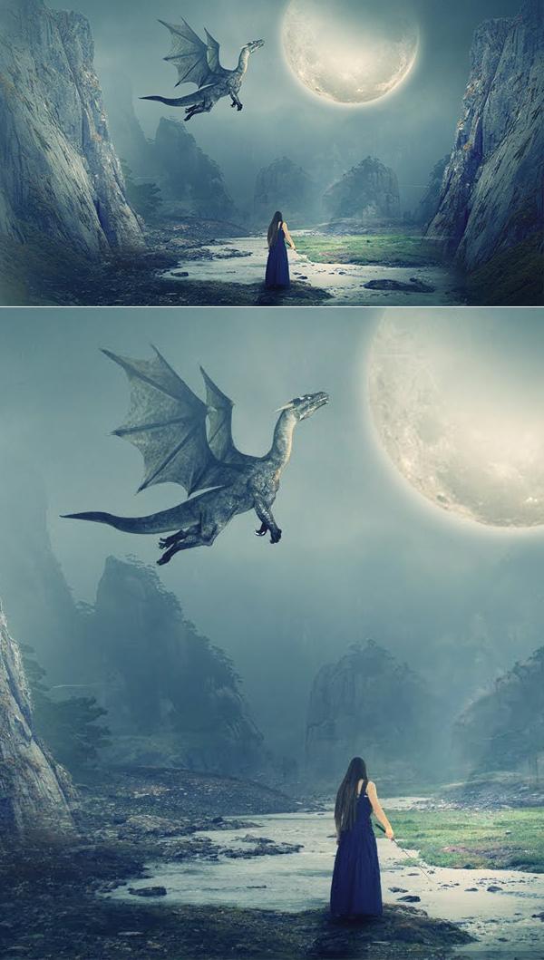 Create The Dragon Manipulation Artwork Work in Adobe Photoshop