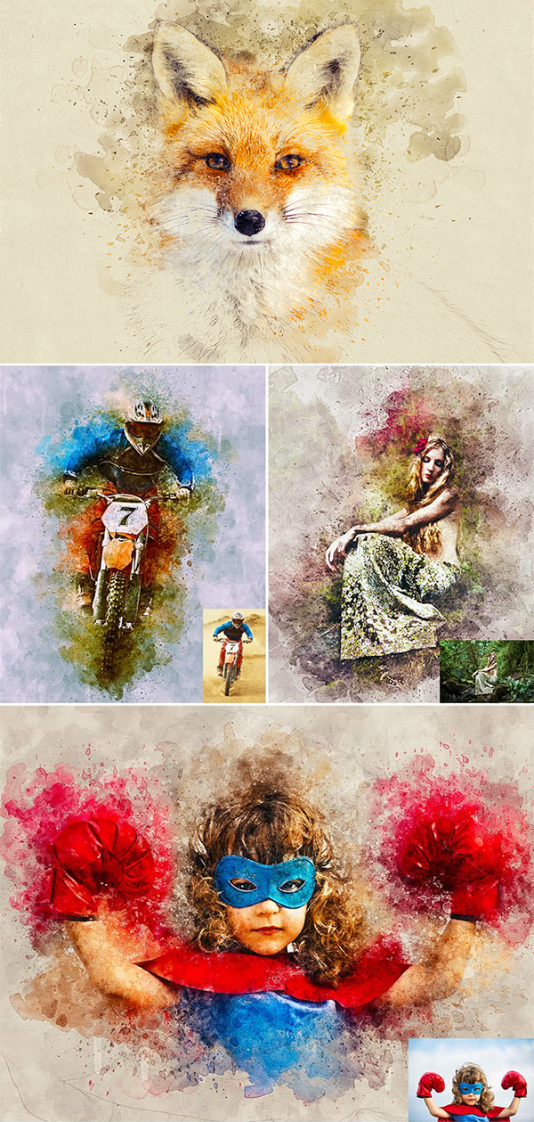 How to Create a Photo to Watercolor Photoshop Action