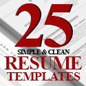 Post thumbnail of 25 Simple & Clean CV / Resume Templates with Cover Letters