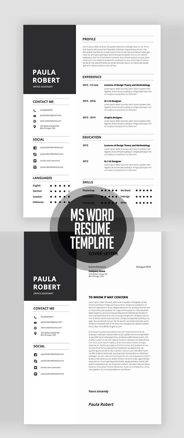 Ms Word Resume Templates #resumedesign
