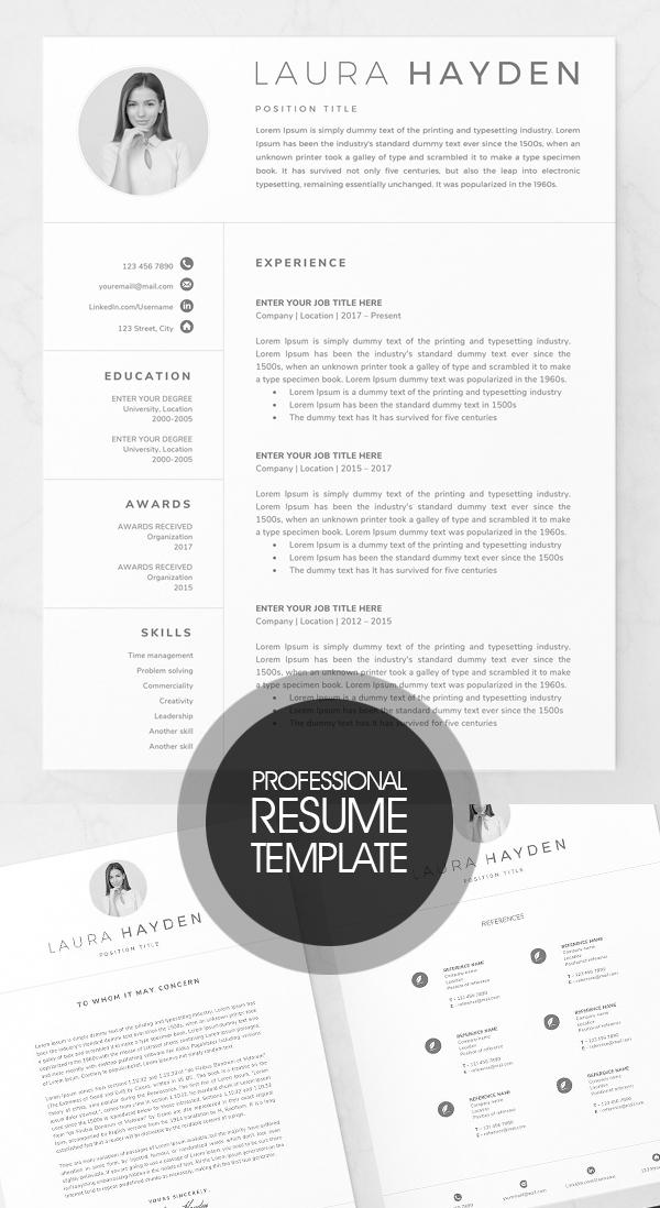 Professional Resume Template / CV Design #resumedesign