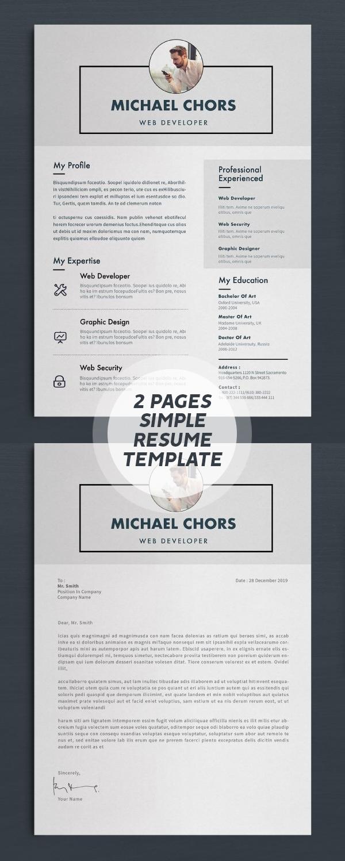 2 Page Resume/CV Design #resumedesign
