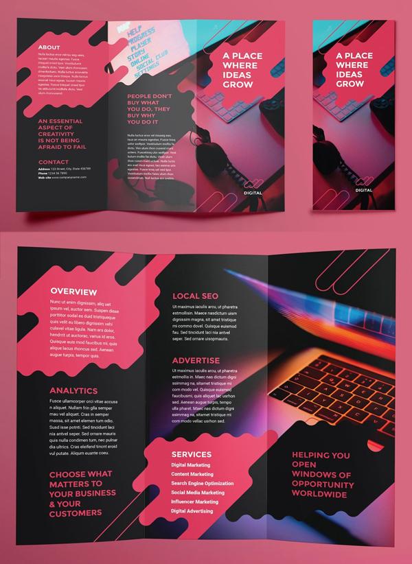 Digital Ad Agency Brochure Trifold