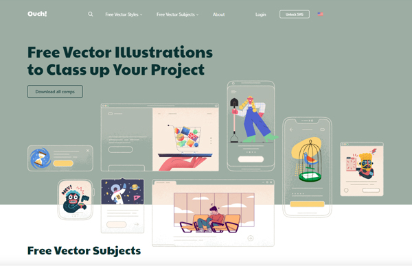 Ouch: free illustrations for websites and interfaces
