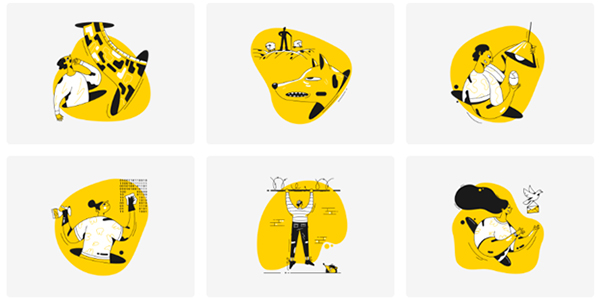 Taxi Graphic illustrations