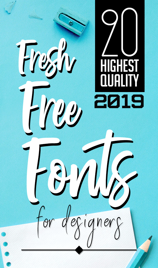 20 Fresh Free Fonts for Graphic Designers