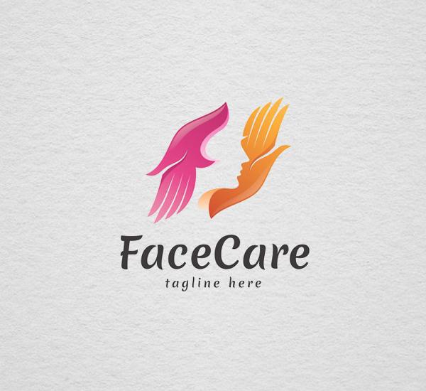 Face Care - Logo Template Design