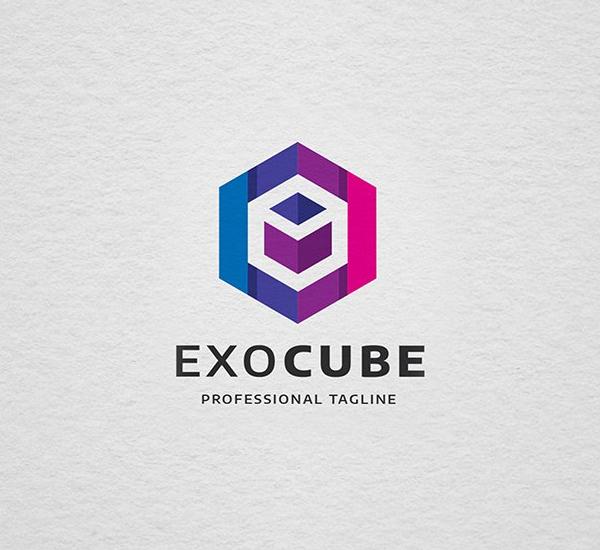 Exotic Cube Letter E Logo Design