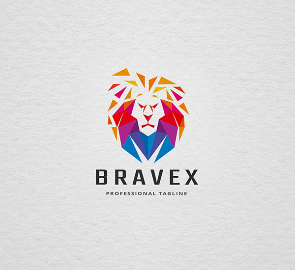 Brave Lion Head Logo Design