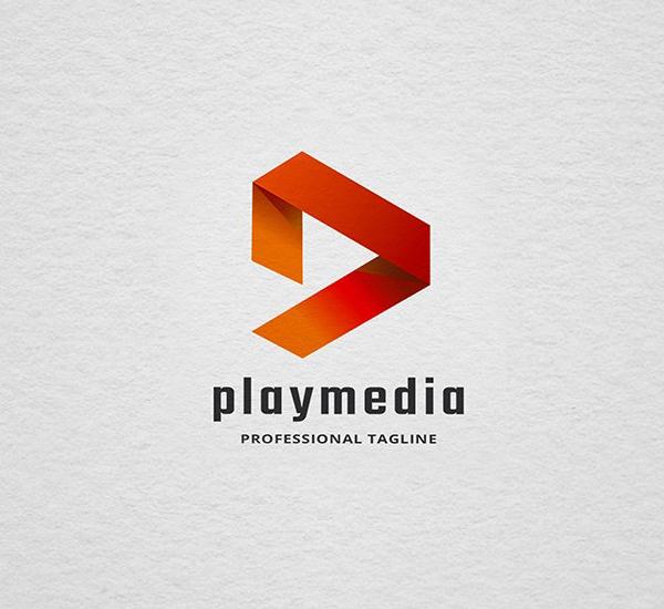 Play Media Letter P Logo Design