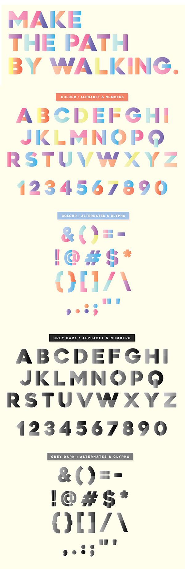 Newport Tracks Free Font Letters
