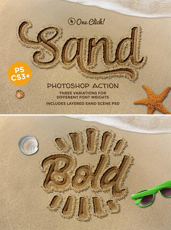 Sand Photoshop Action