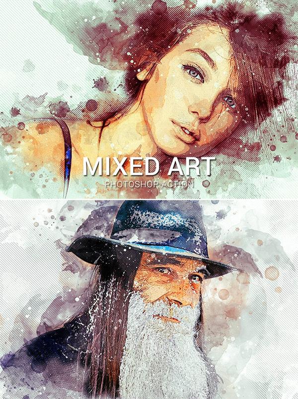 Mixed Art Photoshop Action